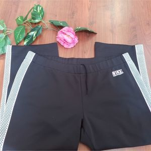 NIKE BLACK/WHITE/PINK  ATHLETIC PANTS